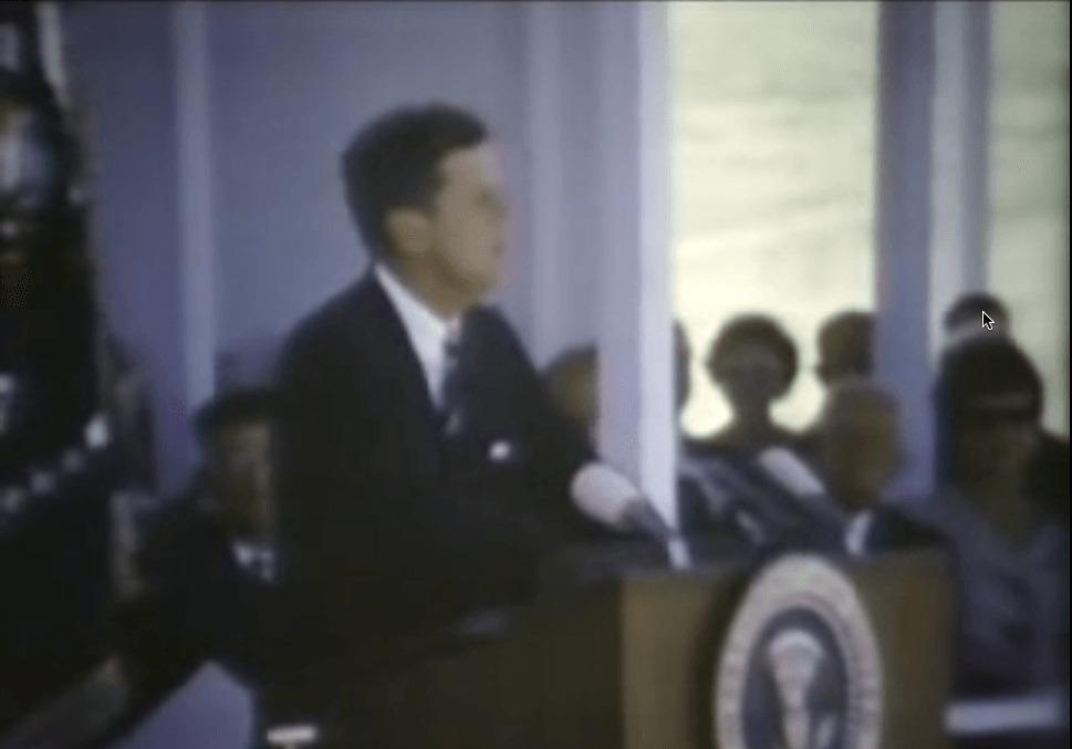 John F Kennedy visits CA farmland