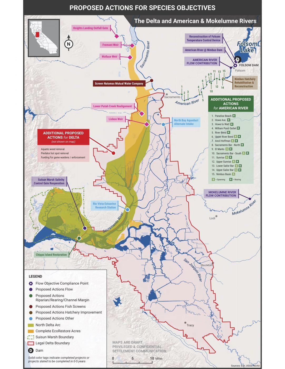 Delta, American, and Mokelumne River